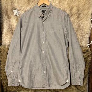 J. Crew Grey Button Down Long Sleeve Shirt